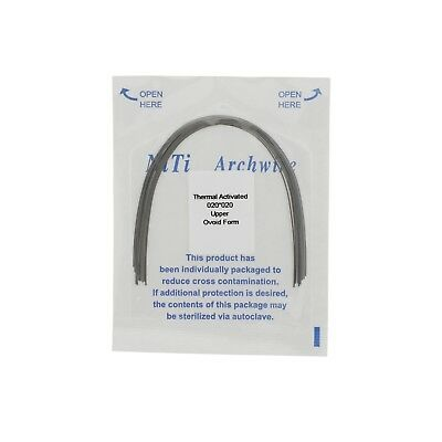 Dental Orthodontic Niti Arch Wire Thermal Activated Rectangular Ovoid Form 20*20