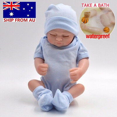 Reborn Toddler Newborn Lifelike Baby Dolls Full Body Silicone Boy Doll+Clothes