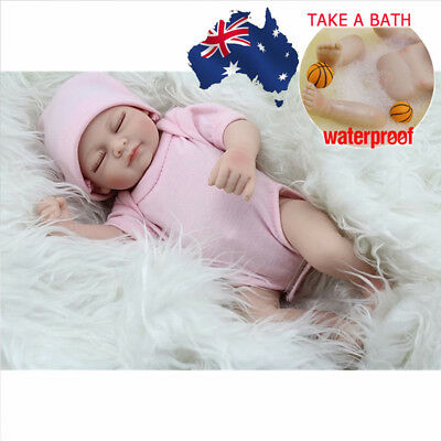 AU Reborn Toddler Lifelike Baby Dolls Full Body Silicone Girl Doll+Clothes