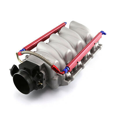 Chevy LS1 LS6 Satin Aluminum Intake Manifold with 90mm Throttle Body