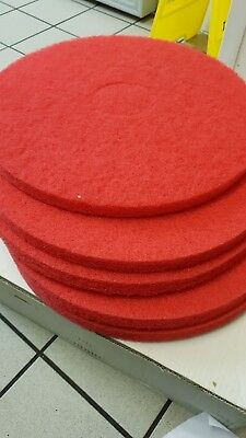 05 x Industrial Floor Pads 17 inch CODE SURE7M Red