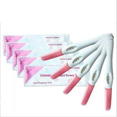 5Pcs Early Pregnancy Test Pen Test Stick Pregnant Rods Women Health Supply