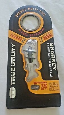 True Utility Sharkey 12-in-1 Pocket Multitool - With free key ring.