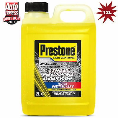 Prestone Screen Wash Extreme Performance Concentrated All Seasons 6x2L=12 Litre