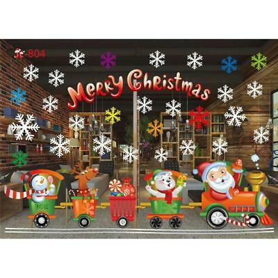Snowflake Window Clings Christmas Stickers - Reusable Decorations 6A