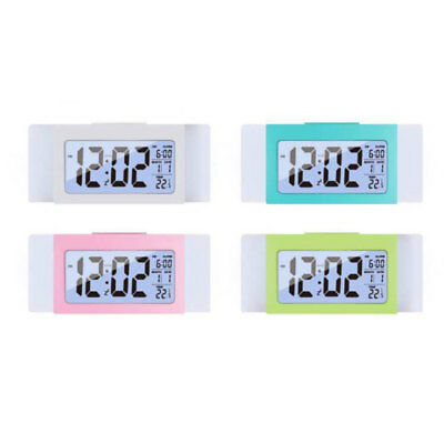 Bedside Digital LED Snooze Alarm Clocks Large Display LCD Electronic Nights Glow