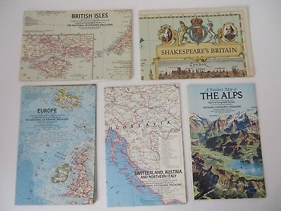 Vintage National Geographic Maps Lot of 16 Europe #8579