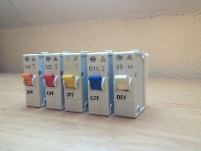 Wylex plug in circuit breaker Type B - 6A 16A 20A 32A 40A with / without bases