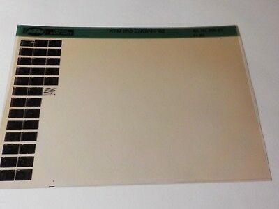 1982 KTM Motorcycle 250 Engine Microfiche Parts Manual DEALER FACTORY