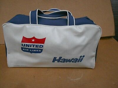 UNITED AIRLINE LINES HAWAII 1960s OVERNIGHT BAG