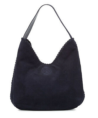 Tory Burch Marion Suede Hobo Shoulder Bag Tory Navy