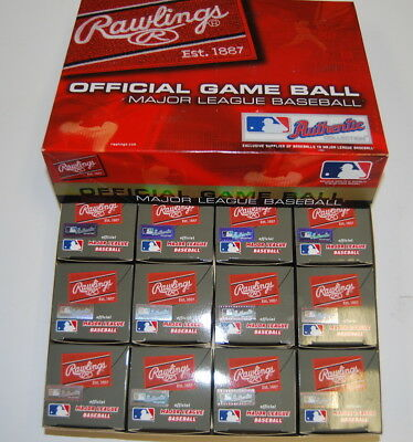 Dozen Rawlings WSBB12DL World Series Giants Tigers MLB Official ROMLB Baseball