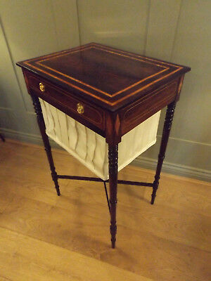 Exceptional Regency Rosewood Work Table Or Side Table