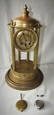 Large & Decorative Brass Striking Bandstand Clock