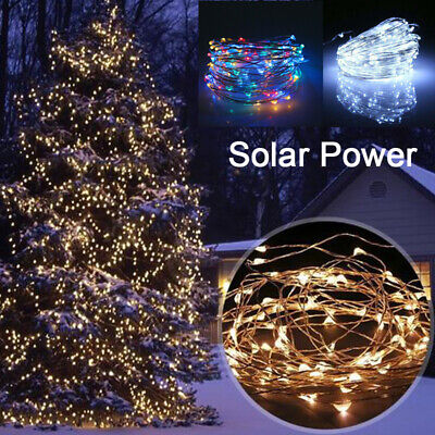 100/200 LED Solar String Lights Copper Wire Fairy Outdoor Garden Wedding Decor