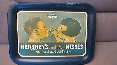Vintage Hershey's Milk Chocolate Kisses Tin Litho  Metal  Service