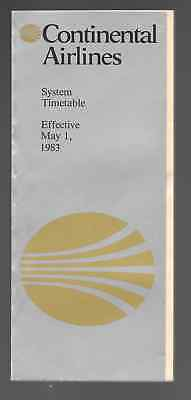 ***(Lot of 3) 1983, 1991, & 1994 Continental Airlines System Timetables ***