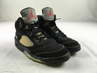 Jordan Air Jordan 5 Retro - Black Basketball Shoes (Men's 12) - Used