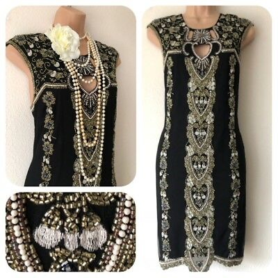 NWT Miss Selfridge Sequin Beaded Embellished Dress 20's Gatsby Flapper 14 Party