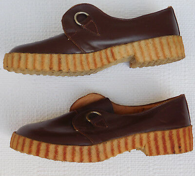 Vintage leather shoes Childrens size 10 UNUSED school uniform 1930s FAIRYSTEP