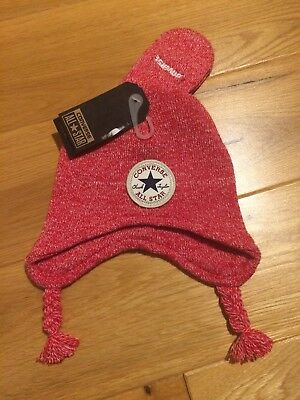 Brand New Converse Hat And Mittens Set Age 12-24months Bnwt Christmas