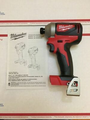 "New Milwaukee 2850-20 M18 Compact Brushless 1/4"" Hex Impact Driver (Bare Tool)"