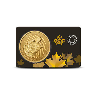 2016 Canada 1 Oz Gold Call of the Wild $200 Grizzly Coin .99999 BU In Assay Card