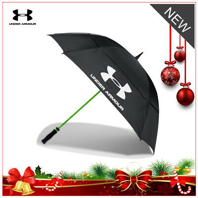 "**under Armour Double Canopy Golf Storm Umbrella - New 2019 - Huge 68"" Span!!**"