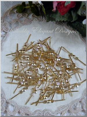 Large Gold Bowtie Connnectors for Crystal Chandelier Prisms~Lot of 100~NEW!