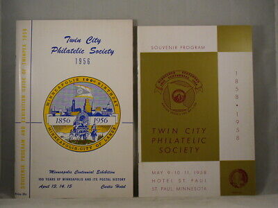 TWIN CITY PHILATELIC SOCIETY 1956 & 1958 PROGRAMS Minnesota Stamp Collecting