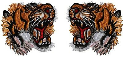 6bc05254c15 TIGER PATCHES (10 Pair) Tigers Head Gucci Style Iron On DIY ...
