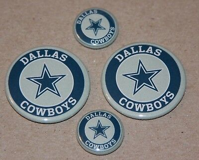 4 Dallas Cowboys Magnets- Makes a Great Gift!