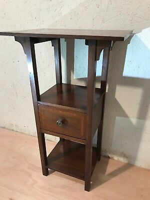 EDWARDIAN MAHOGANY OCCASIONAL SIDE TABLE, With DRAWER & UNDER TIER