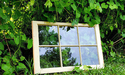 VINTAGE SASH ANTIQUE WOOD WINDOW UNIQUE FRAME PINTEREST WEDDING 24x19 6 PANE