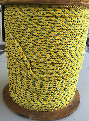 "Lg Spool Of Poly Rope 1/4"" X 1,400 Ft Strong Industrial Size Usa Made Save $$"