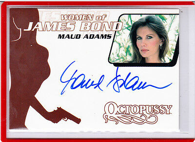 2002 Frauen James Bond Maud Adams als Octopussy Wa 10 Autogramm Auto