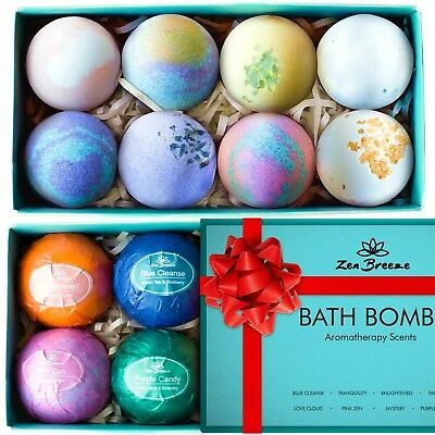 Bath Bombs Gift Set - Relaxing Bubble Bath Products For Women - 8 Large Bath ...