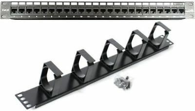 "24/48 Port 19"" Patch Panel CAT6 Network/Cable Manager 1U/1RU *AUSSIE SUPPLIER*"