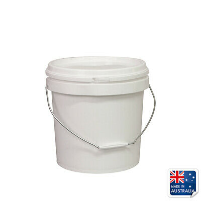 Food Safe Pail Bucket 10L Okka Ingredient Tub With Lid & Handle Container Oil