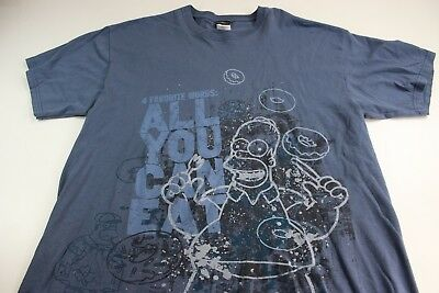 Universal Studios Bart Simpsons All you Can Eat TEE T SHIRT XL Extra Large