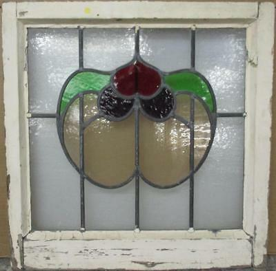 "MID SIZED OLD ENGLISH LEADED STAINED GLASS WINDOW Pretty Abstract 22.25"" x 22.5"""