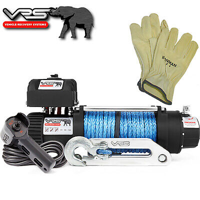 VRS BRAND  9,500lb 4WD MONSTER LOW MOUNT ELECTRIC VEHICLE RECOVERY WINCH + GLOVE