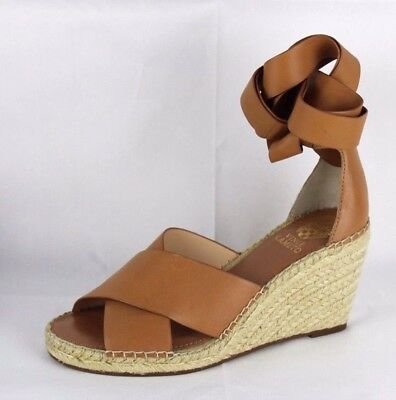 d476e10830 Vince Camuto Leddy women's leather espadrille wedge sandal luggage size 8.5  M
