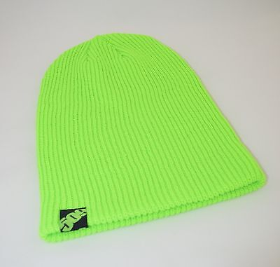 509 Snowmobile Snowcross OVERSIZED BRIGHT LIME BEANIE CAP HAT  - NEW - One Size