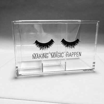 Eyelash Extension Orgainzer Storage Clear Acrylic Supplies Tools Mascara Wands