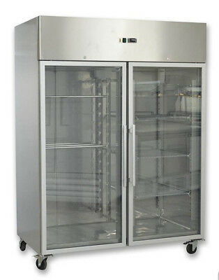 Brand NEW Commercial Double glass door upright GASTRONORM Freezer 1470L