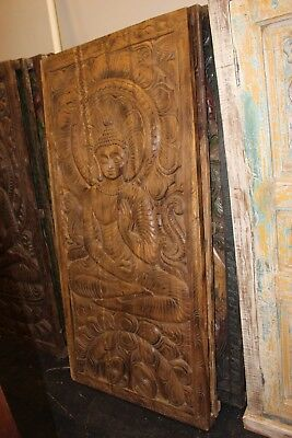 Buddhism Buddha Wall Panel Vintage Hand Carved Wall Hanging Wall Art Decor