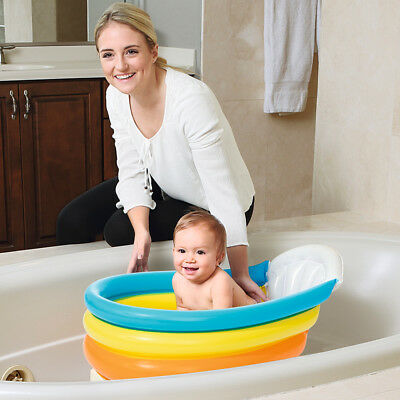 Bestway Squeaky Clean Inflatable Baby Bath Tub w/ Thermometer Travel Portable