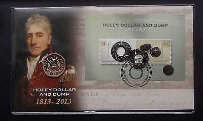 2013 Australia Bicentenary $1 Dollar Coin PNC - Holey Dollar and Dump