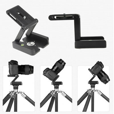 NEW Z-shaped Folding Desktop Holder Stand Quick Release Plate for Camera Tripod